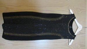Schwarzes Jerseykleid von H&M mit auffälliger Applikation