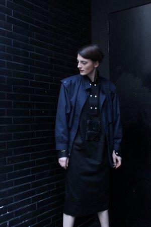 Robe cargo noir coton
