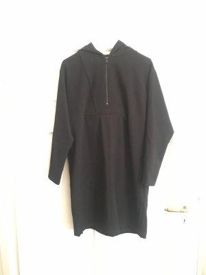 Zara Woman Hooded Dress black