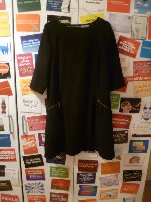 Schwarzes klassisches Kleid von Promod, Basic, Business, Reißverschlüsse