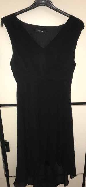 Vila High Low Dress black