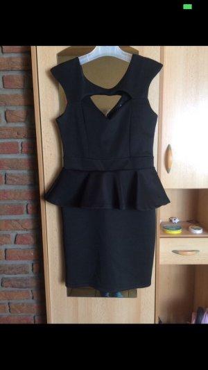 Vestido peplum negro
