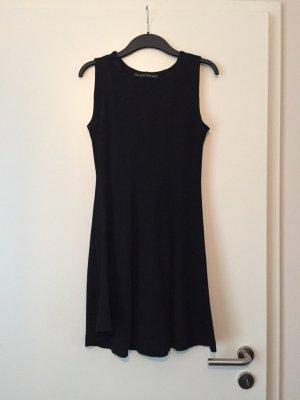 Zara Robe trapèze noir tissu mixte