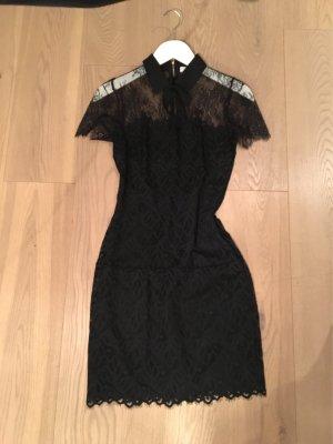 Schwarzes Kleid aus Spitze von Sandro, Grösse XS