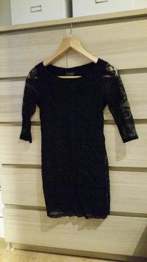 schwarzes Kleid aus Spitze von Topshop; Größe 36