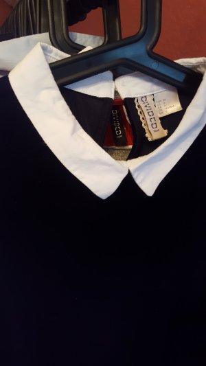 schwarzes kleid aus Velours
