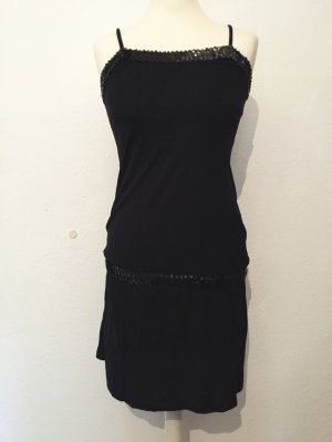 Schwarzes Kleid bzw. Longtop mit Pailletten