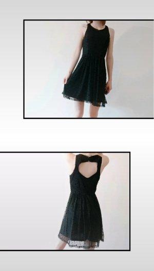Only Cut out jurk zwart