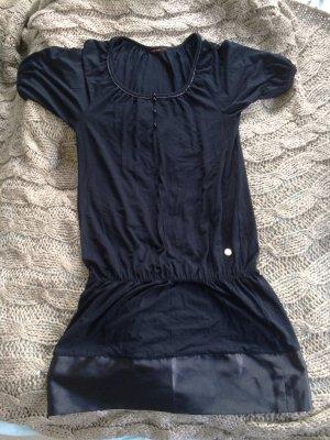 schwarzes Kleid Gr. 38 mit Satinbund