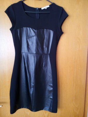 Leather Dress black polyester