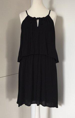 Schwarzes Kleid im Lagen-Look, Gr. XL (fällt klein aus) - von Splendid