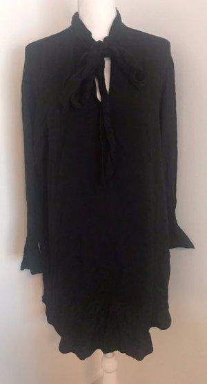 Schwarzes Kleid im leoprint von H&M