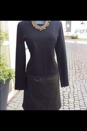 Schwarzes Kleid in Lederoptik in Gr.36, Neu!