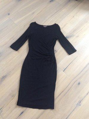 Schwarzes Kleid in Wickeloptik - Größe 14