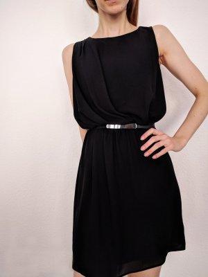 Schwarzes Kleid Mango XS