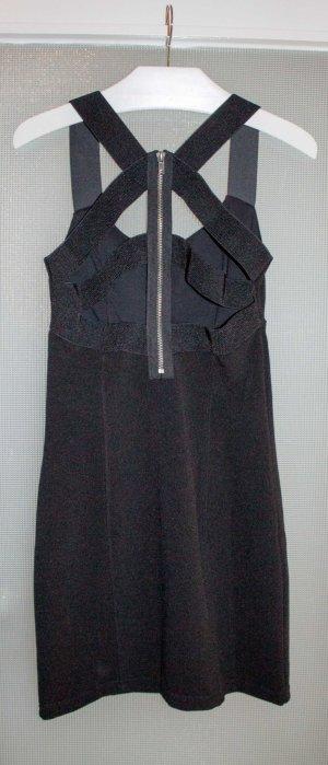 Schwarzes Kleid mit aufwändigem Rückenausschnitt. Nur einmal getragen!