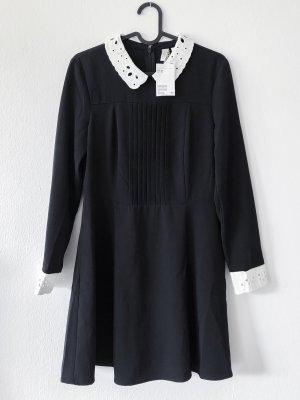 H&M Longsleeve Dress black-white
