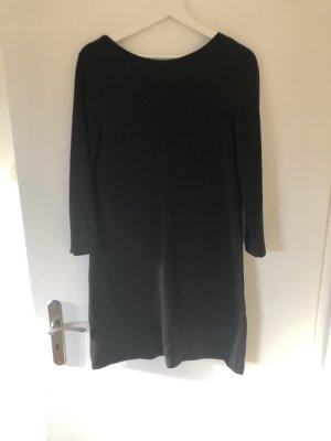Schwarzes Kleid mit Gold Reißverschluss