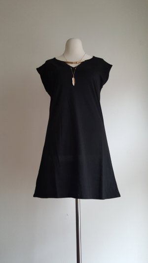 Shirt Dress black-gold-colored polyester