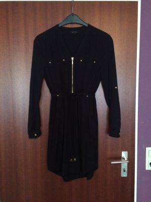 Schwarzes Kleid mit goldenen Knöpfen und Reißverschluss:)