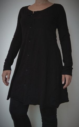 Schwarzes Kleid mit langen Ärmeln (Zeitlos by Luana, 42)