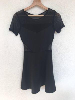 schwarzes kleid mit mesh von h&m