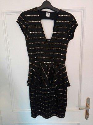 Schwarzes Kleid mit Pailetten