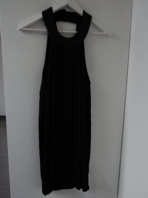 Schwarzes Kleid mit Pailleten-Kragen von Hooch