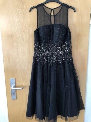 Schwarzes Kleid mit Pailletten (Gold/schwarz)