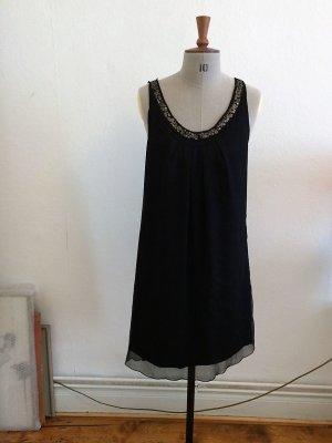 Schwarzes Kleid mit Pailletten von Saint- Tropez