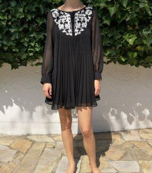 Asos Babydoll-jurk zwart-wit Polyester