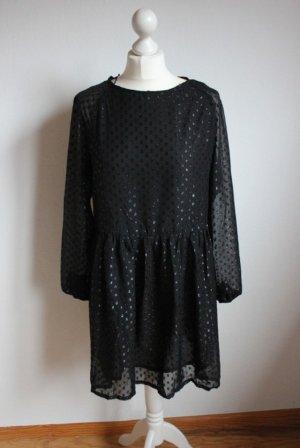 Schwarzes Kleid mit Punkten Dots Smock Dress Monki neu
