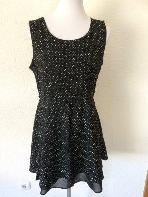 schwarzes Kleid mit Punkten von Vero Moda - Gr. L