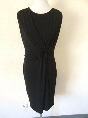 schwarzes Kleid mit Raffung von Yessica - Gr. 38/40/M