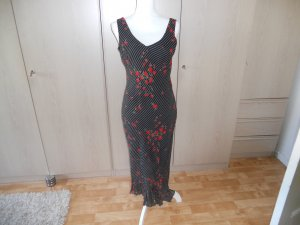 Flounce Dress black-red synthetic material