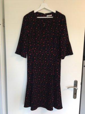 Esprit Midi Dress black-brick red