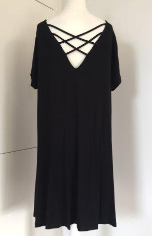 Schwarzes Kleid mit Rückenausschnitt von ASOS / weicher Jersey-Stoff