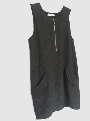 Daphnea Pinafore dress black-gold-colored