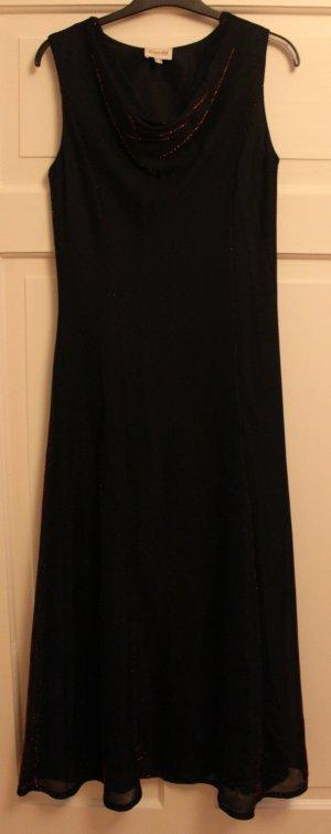 Schwarzes Kleid mit schönem Rotschimmer von Essentiel