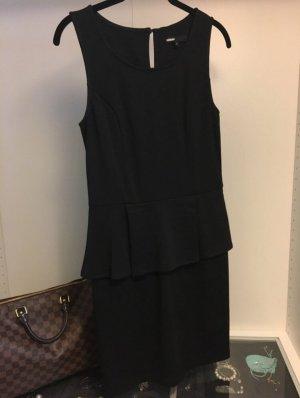 Schwarzes Kleid mit Schößchen Peplum - Black Dress lbd Gr. S Gr. 36