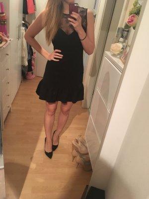 Schwarzes Kleid mit Spitze und Volants Sandro 2