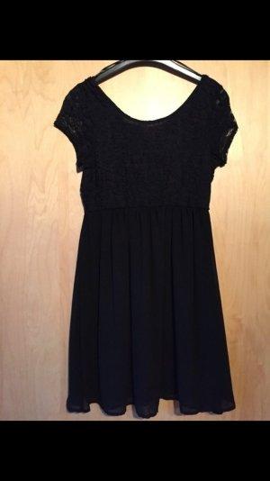 schwarzes Kleid mit Spitze,xs - NEU!