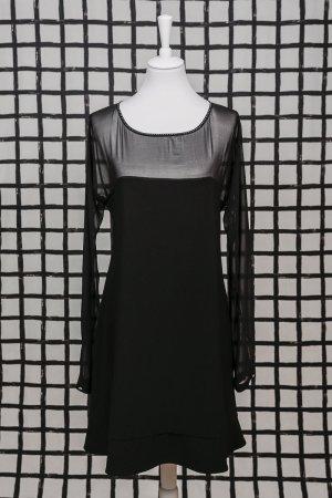 schwarzes Kleid mit Strass in Gr. 42