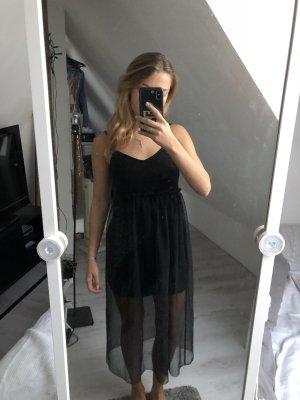 Schwarzes Kleid mit Transparenten Teil