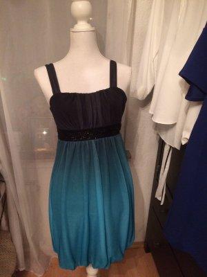 Schwarzes Kleid mit Türkisem Verlauf Montego