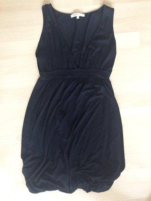 Hüftgold vestido de globo negro