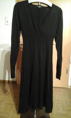 Amisu Vestido de manga larga negro Viscosa