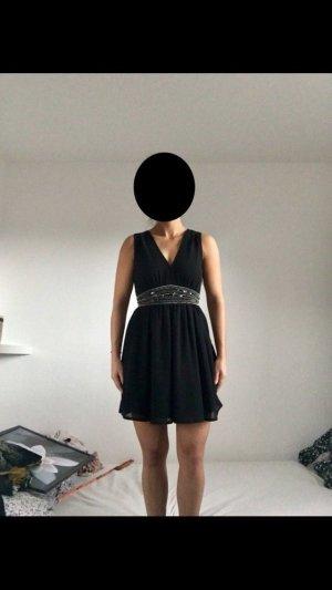 Schwarzes Kleid mit Verzierung, Größe XS, Atmosphere