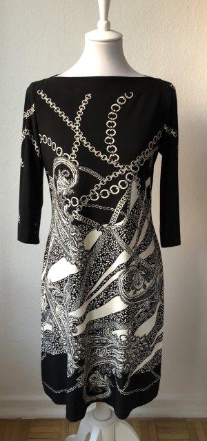 Donna Morgan Jurk met lange mouwen zwart-wit