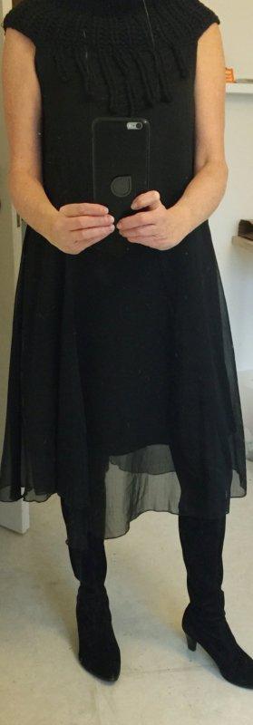 NÜ Denmark Chiffon jurk zwart